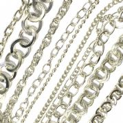 Rhodium plated chains